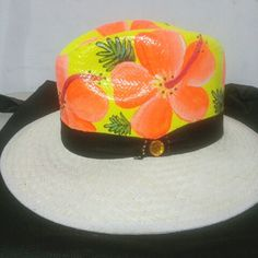 Painted Hats, Hat Decoration, Summer Hats, Mothers, Clothing, Crafts, Wedding, Brush Pen, Craft