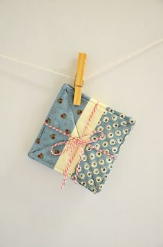 Handmade Patchwork quilted coasters in blue by 464Handmade