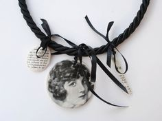 NOHA NICOLESCU-RO: necklace with ceramic collages