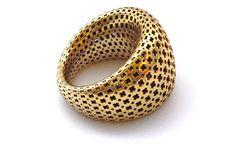 #3DPrinted Pos.i.tive Ring by Designeradesigns #3Dprinting #3dprintedjewelry