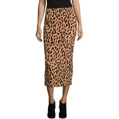 Diane von Furstenberg Tailored-Fit Midi Pencil Skirt ($171) ❤ liked on Polyvore featuring skirts, pencil skirt, diane von furstenberg, midi skirt, leopard print skirts and leopard print pencil skirts