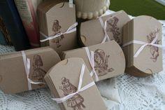 Favor Boxes-Alice in Wonderland-Wedding Favor, Party Favor - Set of 20