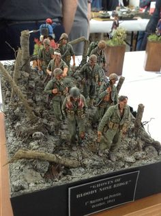 USMC Pacific Scale Plastic Model Diorama Ghost of Bloody Nose Ridge