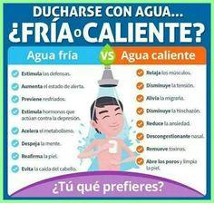 ¿Baños de agua caliente o duchas de agua fría?