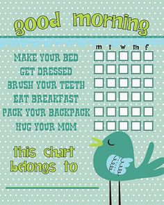 Teeth & Chore Charts for {Winter}!