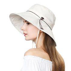 74233eef8b4 UV50 Foldable Sunhat Women Ponytail Hole Safari Beach Fishing Bucket Hat  55-61CM  SiggiHat