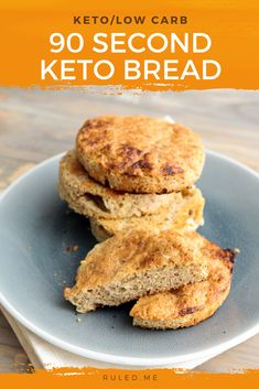 Ready for some keto culinary magic? With this recipe, you'll learn how to turn five common keto ingredients into soft, fluffy, and delicious bread in just 90 seconds! After learning this trick, you will no longer have to sift through unsatisfying low-carb bread products or bake a full keto loaf every time you have a craving for grilled cheese, a sandwich, or toast with butter. Grab an egg, keto flour, baking powder, butter, and parmesan cheese — let's make some quick keto bread! #ketobread Low Carb Sandwiches, Sandwiches For Lunch, Keto Flour, Baking Flour, Lowest Carb Bread Recipe, Low Carb Bread, Keto Mug Bread, Good Keto Snacks, 90 Second Keto Bread