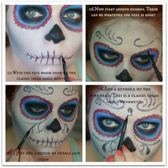 "The Color ""Red Hot"": Day of the Dead Makeup"