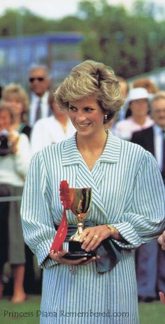 "June 29, 1985: Princess Diana at a ""Birthright"" charity polo match at the Guard's Polo Club, Windsor."