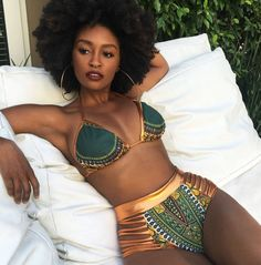 New African Print Two-Pieces High Waist Bikini (2 Colors)