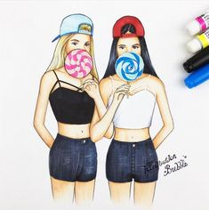 Best friend drawing best friend drawings easy best friend drawings best best friends forever images on