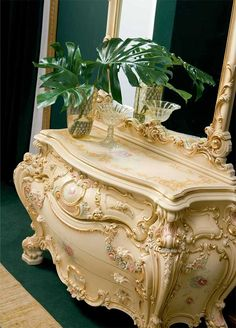 Victorian Bedroom Olimpia- Victorian Furniture - not a fan of the light colored dresser, but its so ornate and lovely