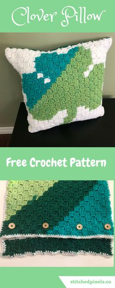 Use this free crochet pattern to make your own Clover Pillow, just in time for St. Patrick's Day.