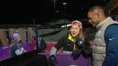 Kate Hansen explains pre-race dance routine Kate Hansen, Dance Routines, Olympics, Racing, Sporty, Running, Auto Racing