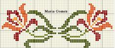 Maria Gomes : Os Meus Gráficos de Ponto Cruz Handicraft, Cross Stitch Patterns, Needlework, Alphabet, Embroidery, Floral, Google, Facebook, Easy Cross Stitch