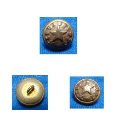 """This is a very rare version of the Confederate manufactured Mississippi uniform button. This is the pattern that is listed as MP5av in Albert's button book and as MP230as1 in Tice's button book. It is in very attractive condition as you can see in the pictures. It is dent free and all of the letters are legible. Around the edge of the button it reads """"MISSISSIPPI"""". There is traces of the original gold gilding remaining on the button face and some more on the reverse. In the center of the…"""