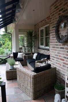 Outdoor Seating, Outdoor Rooms, Outdoor Gardens, Outdoor Living, Outdoor Decor, Garden Living, Home And Garden, Porch Veranda, New England Style