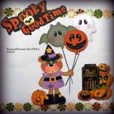 paper piecing halloween | ELITE4 HALLOWEEN PREMADE TEAR BEAR PAPER PIECING SCRAPBOOK PAGE ALBUM ...