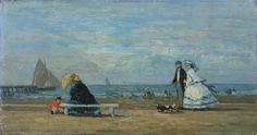 Beach at Trouville, 1863. Eugene Boudin