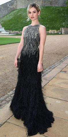 The Ladies Of Downton Abbey Best Off-Screen Style Moments - Lily James from #InStyle