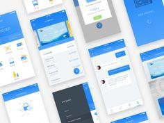 More Screens - Wallet App by Bagus Fikri #Design Popular #Dribbble #shots