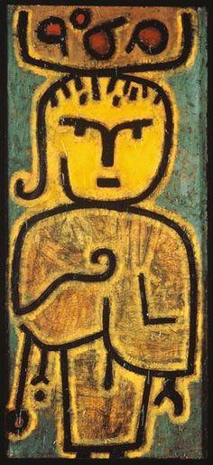 Paul Klee (1879-1940)  ontwikkelde zijn eigen schilderstijl, deze schilderstijl hielp hem aan zijn doorbraak in 1917. Begint in 1918 aan zijn essay Creatieve ontboezemingen welke hij publiceert in 1920. In 1919 kiest hij voor abstracte vormen in zijn eerste olieverfschilderijen.