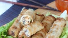 Nems impériaux au porc Asian Recipes, Healthy Recipes, Ethnic Recipes, Chinese Recipes, Egg Rolls, Spring Rolls, Wok, Chinese Food, Fresh Rolls