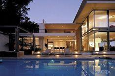casas modernas por dentro y por fuera con alberca - Buscar con Google #casasmodernaspordentro #casasmodernasalberca