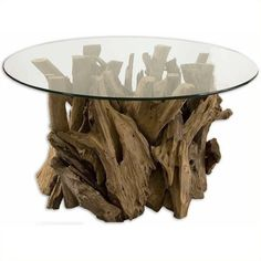 Uttermost Driftwood Glass Coffee Table ($724) ❤ liked on Polyvore featuring home, furniture, tables, accent tables, espresso, glass coffee table, drift wood furniture, uttermost furniture, glass furniture and driftwood table