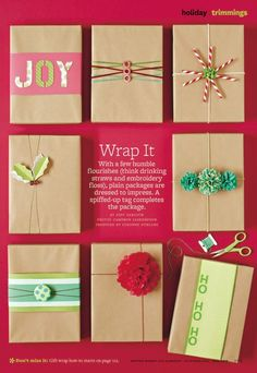Creative gift-wrapping ideas