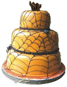 Cake decorating is relatively new concept compared to cake art which was performed in Europe in the century. Cake decorating indeed has a long and Halloween Wedding Cakes, Halloween Birthday, Halloween Cakes, Halloween Treats, Halloween Pumpkins, Halloween Fun, Halloween Spider, Halloween Foods, Halloween Decorations