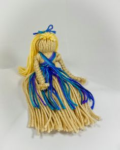 Thrum Doll - Ella - Jewel Tones Traditional. $12.00, via Etsy.