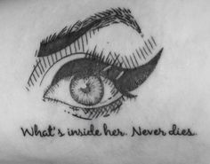 Tattoo Eyes Amy Winehouse - What's inside her. Never died. O que há nela nunca morre