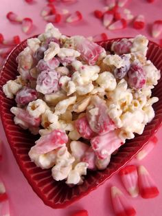 Cupid Crunch -- we will substitute white chocolate for the almond bark #valentine
