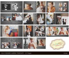 Instant 12x12 Square Wedding Al Template 22 By Cutepsd 20 00