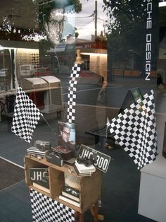 "Optometrist ""Porsche"" window display I have just done,"