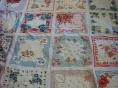 Hanky quilt made from Grandma's old hankies. sweet!