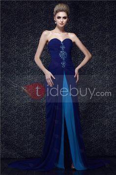 Sweetheart Beaded Floor-Length Spilt-Up Dasha's Evening Dress