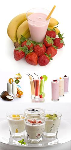 Attractive #fruit shakes +++Visit http://www.thatdiary.com/ for tips + advice on health and fitness #health #fruits