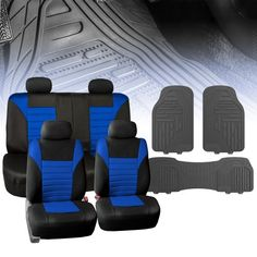 14 PC Black 7 Seat Third Row Car Covers Seater Set For Volkswagen Touran 2015 On