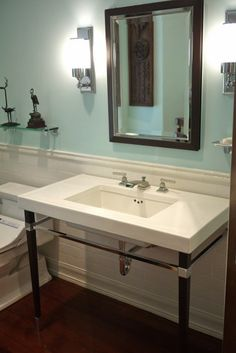Beautiful Modern Pedestal Sink   Nice Space On Sides Of Basin