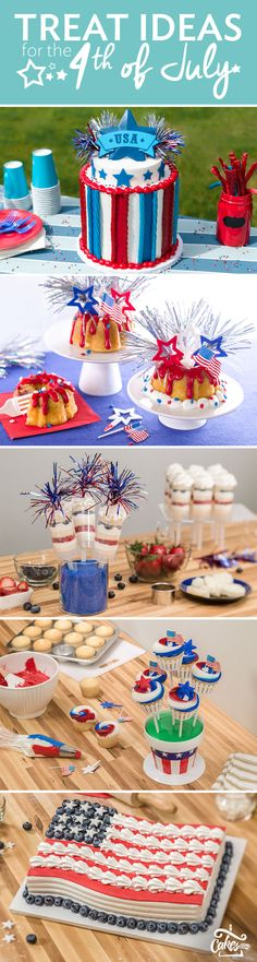 Red, white and blue cake ideas so you can make a star-spangled treat for the 4th of July.