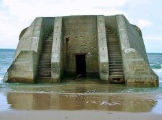 The beuaty of WW2's bunkers in beaches of Normandy in France