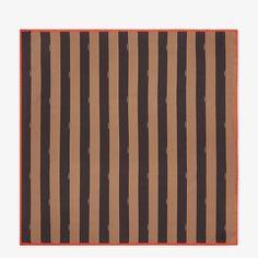 Brown silk foulard - PEQUIN FOULARD | Fendi