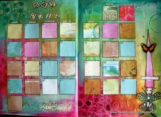 Another calendar Idea... use bits of scrapbook paper?