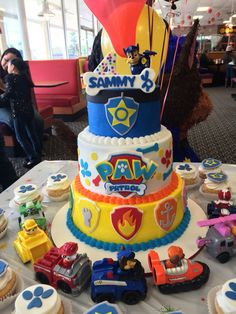 Paw patrol birthday cake Facebook.com/sweetkreationsbybecky