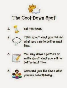 positive classroom discipline :) I'd probably make a couple of changes to it, but for students acting out of anger, this would be good! Classroom Discipline, Classroom Behavior Management, Behaviour Management, Positive Discipline, Classroom Behaviour, Positive Behavior Support, Conscious Discipline, First Grade Classroom, Kindergarten Classroom