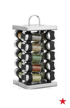 Add a dash of style to your countertop with the Martha Stewart Collection stainless steel spice rack