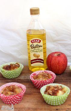 Gluten Free Apfelkuchen Muffin using Star Butter Flavored Olive Oil #recipe #STAROliveOil