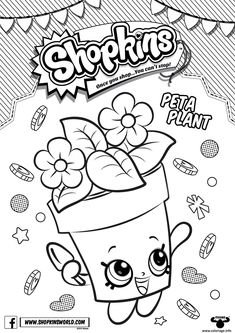 Coloriage shopkins peta plant Dessin à Imprimer